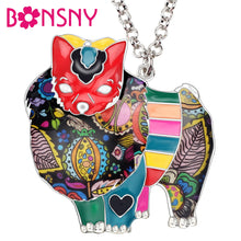 Load image into Gallery viewer, BONSNY Pomeranian Pendant Necklace-FurrysWorld