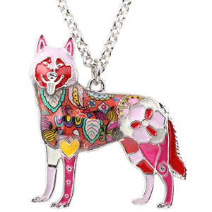 BONSNY Alaskan Husky Pendant Necklace-FurrysWorld