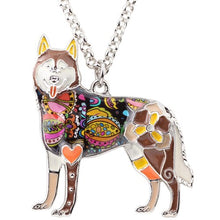 Load image into Gallery viewer, BONSNY Alaskan Husky Pendant Necklace-FurrysWorld