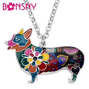 BONSNY Welsh Corgi Pendant Necklace-FurrysWorld