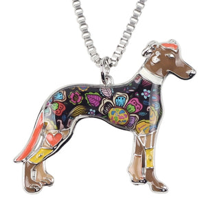 BONSNY Greyhound Pendant Necklace-FurrysWorld