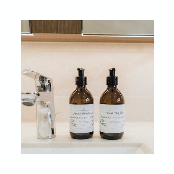 Petitgrain and Rosemary Hand and Body Wash and Lotion