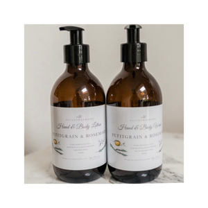 Petitgrain & Rosemary Hand & Body Wash and Lotion Duo - 2 x 300ml