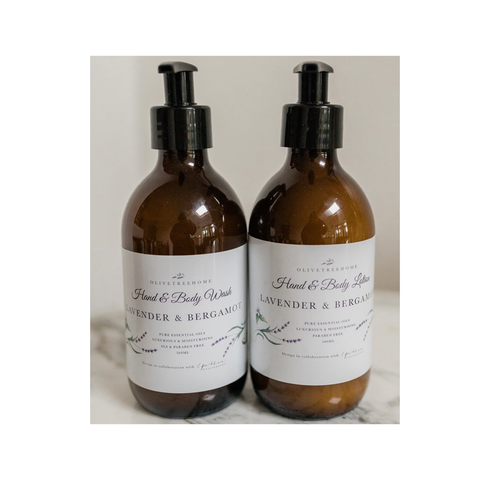 Lavender & Bergamot Hand and Body Wash and Lotion Duo