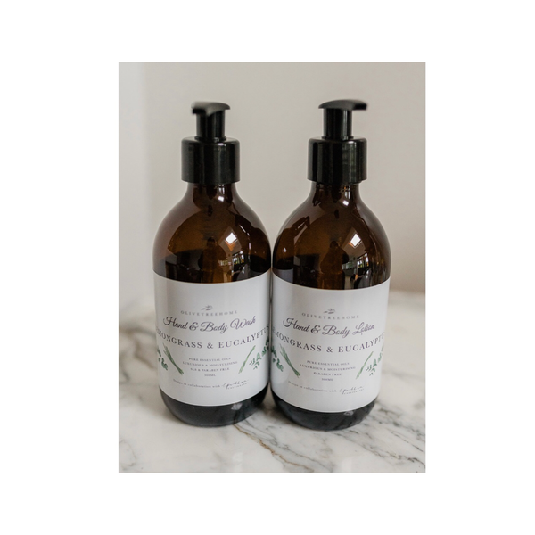 Lemongrass and Eucalyptus Hand Wash and Lotion