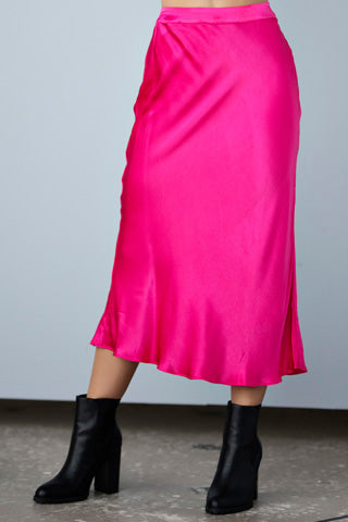 Hot Pink Flare Skirt