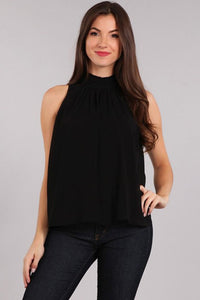 Sleeveless black tank