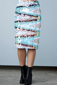 Multi Color Sequin Skirt