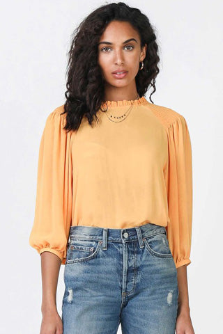 Orange quarter sleeve blouse