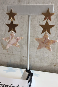 tiered star earring
