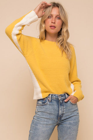 Yellow & White Sweater