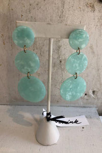 Turquoise Circle Cascading Earrings