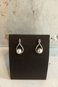 Eternity Symbol Pearl Earrings