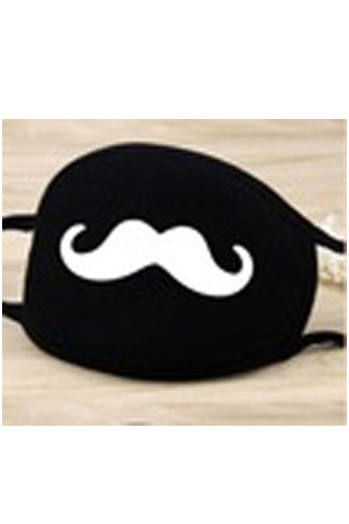 mustache cotton mask