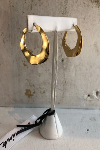Dented Gold/Silver Metal Earrings