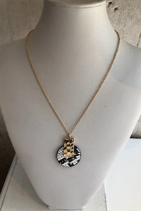 Snake print pendant necklace