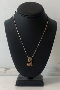 Animal Print Charm Necklace