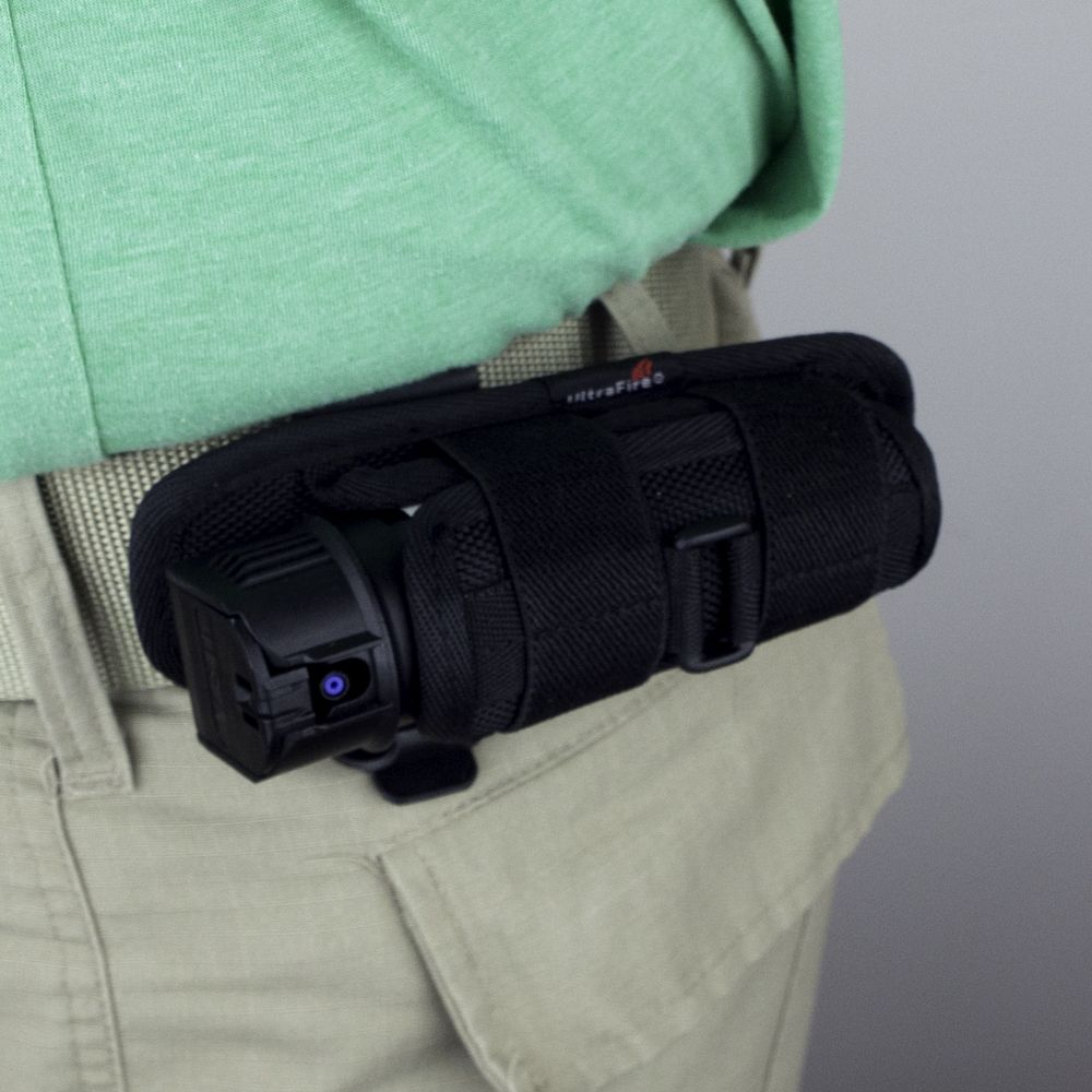 Flashlight Holster with Pepper Spray