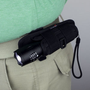Flashlight Holster with Tactical Flashlight