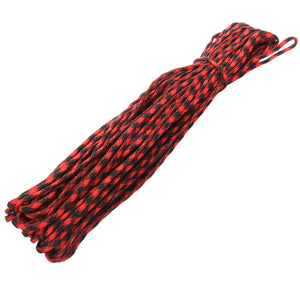 100 Ft 550 Paracord Red/Black