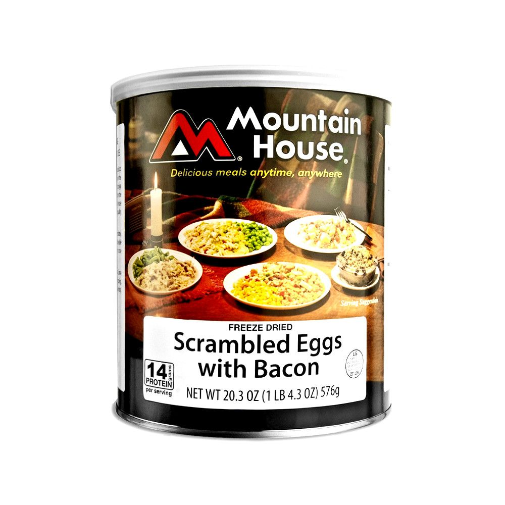 Mountain House Scrambled Eggs Wth Bacon #10 Can