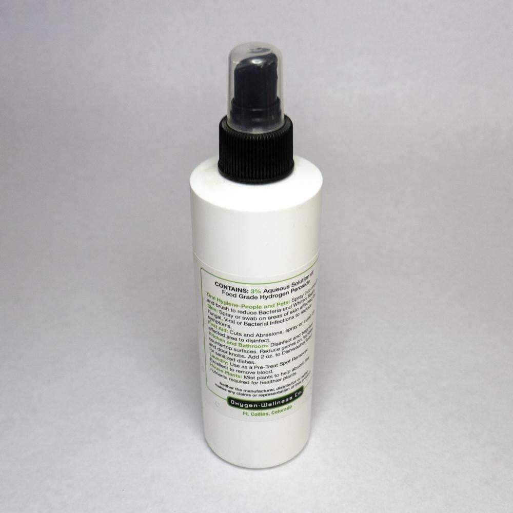 Hydrogen Peroxide 3% (food grade) H2O2 - 8oz Spray Bottle