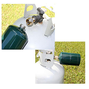 Propane Refill Adapter and Gas Canister