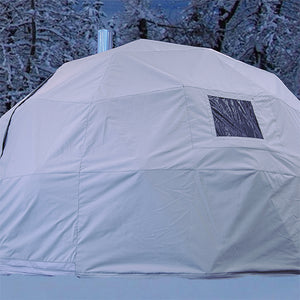 16 foot shelter in snow