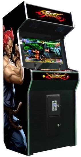 Arcadekast Streetfighter 2-players staand