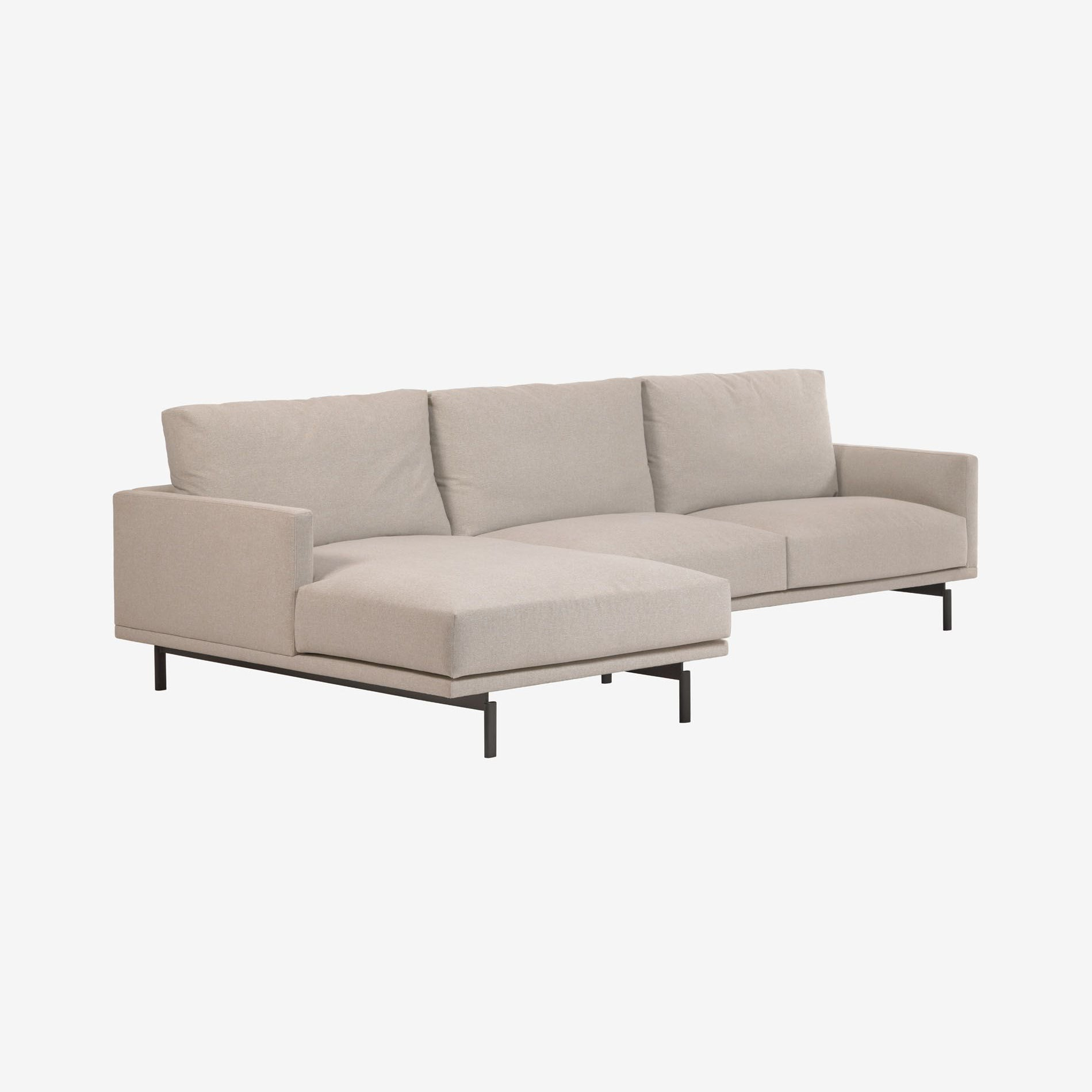 3 Persoonsbank Galene met chaise longue links