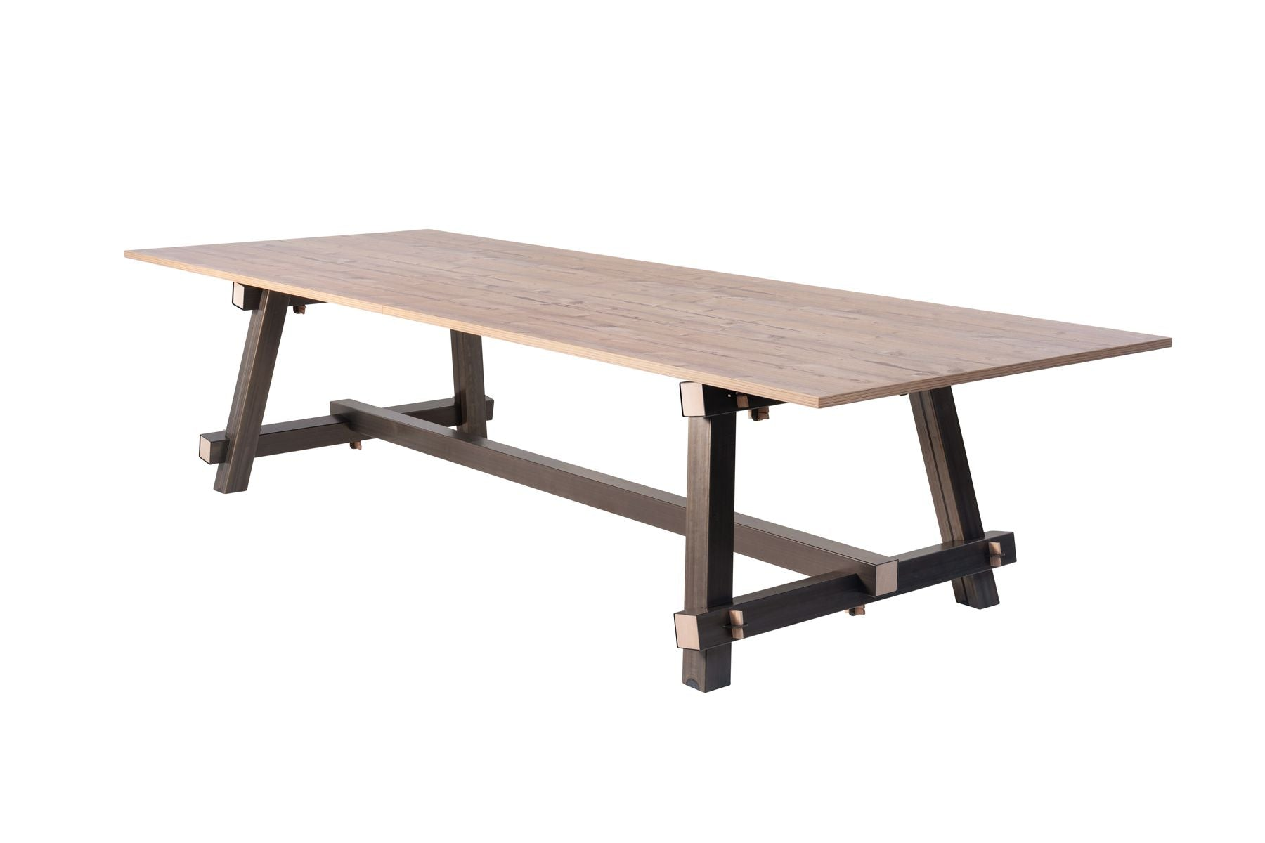 TImber vergadertafel