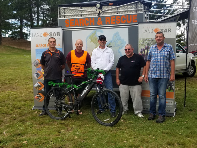 Hybrid E-Bikes donates to Nelson Search and Rescue