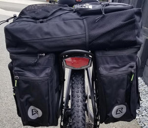 Hybrid Rock Bros 50L Water resistant   Rear Bike Rack Bag - Pannier