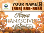 Thanksgiving Lawn Signs