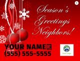 Happy Holidays Lawn Signs