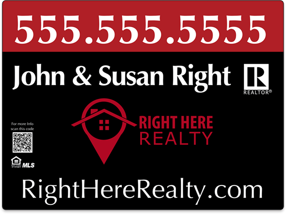 Right Here Realty Vehicle Magnets