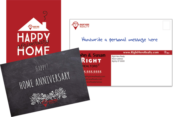 Right Here Realty Happy Home Postcards