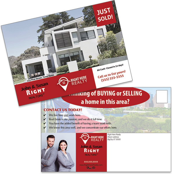 Right Here Realty Just Sold Postcards