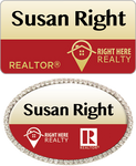 Right Here Realty Name Tags