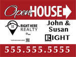 Right Here Realty Yard Signs
