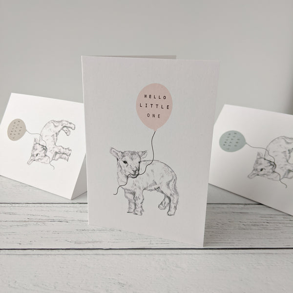 Little Lamb New Baby Card