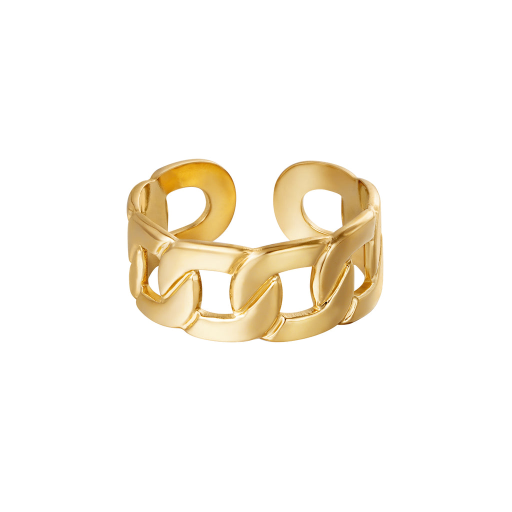 the golden big chain ring