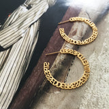 the golden stressed hoops
