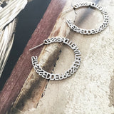 the silver stressed hoops