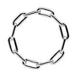 the chain ring - silver