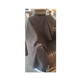 Black Polyester Woven Barber Cape
