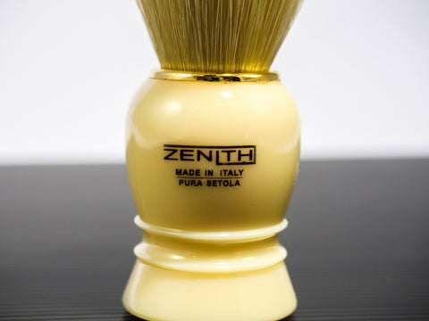 Zenith Shaving Brush Boar Bristle - Cream/Gold