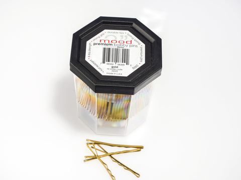 In Mood Gold Bobby Pins
