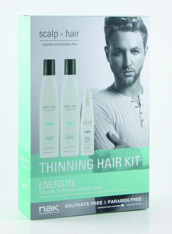 Nak Scalp Energise Thinning Kit With Mineral Defence 100ml