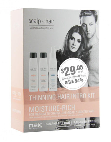 Nak Scalp Moisturise Thinning Hair Intro Kit